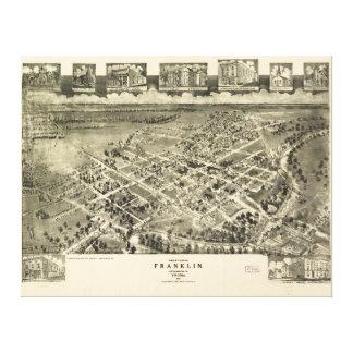 フランクリンSouthampton郡ヴァージニアMap (1907年) キャンバスプリント