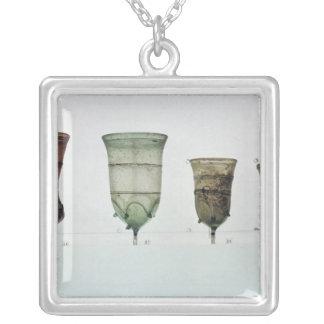 フランク族ガラスの選択、第4第5世紀 シルバープレートネックレス