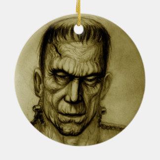 フランケンシュタインのセピア色のオーナメントの芸術ジャックJOYA 陶器製丸型オーナメント