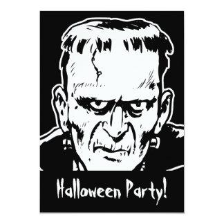 フランケンシュタインのハローウィンパーティの招待状 カード
