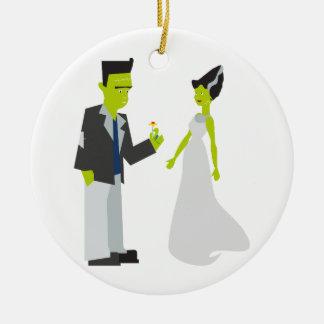 フランケンシュタイン及び花嫁 セラミックオーナメント