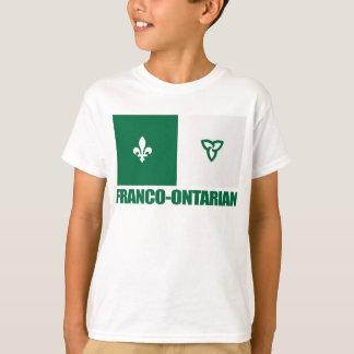 フランコOntarianの旗 Tシャツ