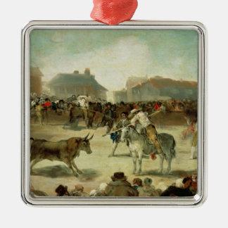 フランシスコホセde Goya |村の闘牛 メタルオーナメント