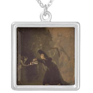 フランシスコホセde Goya y Lucientes   El Hechizado シルバープレートネックレス
