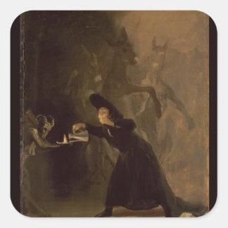 フランシスコホセde Goya y Lucientes | El Hechizado スクエアシール