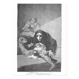フランシスコ・デ・ゴヤ著内気な人 ポストカード