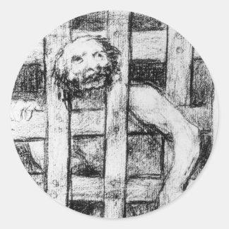 フランシスコ・デ・ゴヤ著狂気の後ろのバー ラウンドシール