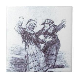 フランシスコ・デ・ゴヤ著2人の踊る旧友 タイル