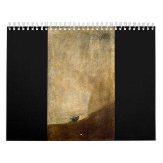 フランシスコ・デ・ゴヤ1820年著犬(黒い絵画) カレンダー