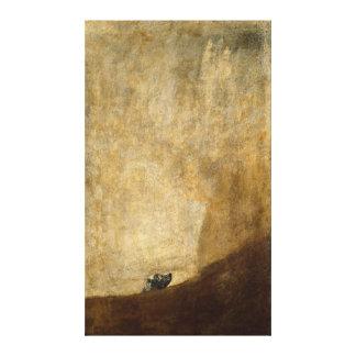 フランシスコ・デ・ゴヤ1820年著犬(黒い絵画) キャンバスプリント