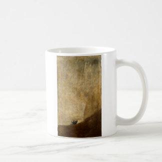 フランシスコ・デ・ゴヤ1820年著犬(黒い絵画) コーヒーマグカップ