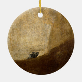 フランシスコ・デ・ゴヤ1820年著犬(黒い絵画) セラミックオーナメント