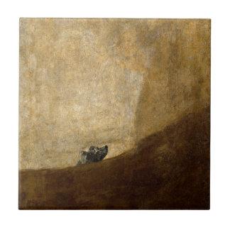 フランシスコ・デ・ゴヤ1820年著犬(黒い絵画) タイル