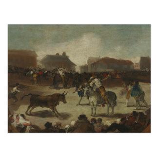 フランシスコ・デ・ゴヤ-村の闘牛 ポストカード