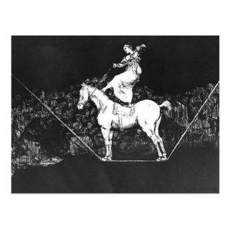 フランシスコGoya- Aのサーカスの女王の時機を得た不条理 ポストカード