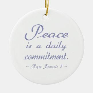 フランシス島Peace Commitment法皇 セラミックオーナメント