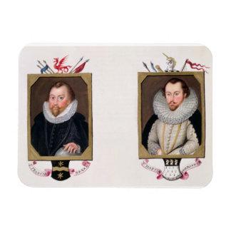 フランシス・ドレーク(c.1540-96)の二重ポートレートa マグネット