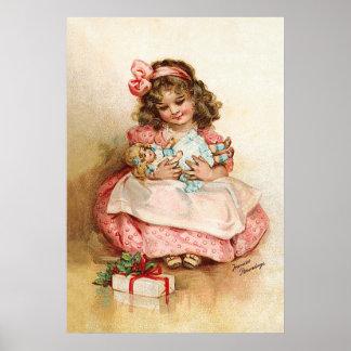 フランシスBrundage -人形を持つ女の子 ポスター