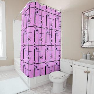 フランシーヌのピンクおよび黒 シャワーカーテン