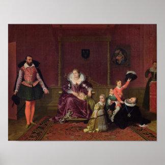 フランスおよびナバールの遊ぶことのアンリーIV王 ポスター