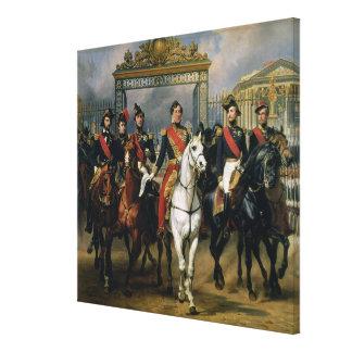 フランスおよび彼ののルイPhilippe (1773-1850年)王 キャンバスプリント