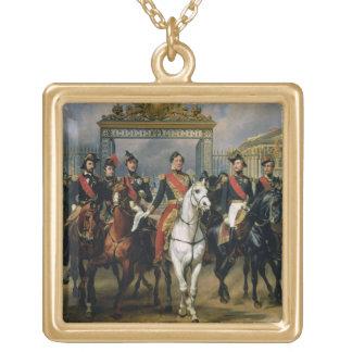 フランスおよび彼ののルイPhilippe (1773-1850年)王 ゴールドプレートネックレス