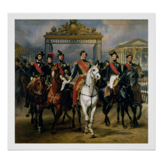 フランスおよび彼ののルイPhilippe (1773-1850年)王 ポスター