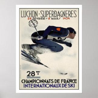 フランスからの涼しいスキーポスターが付いているポスター ポスター