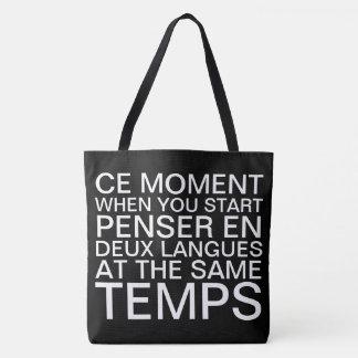 フランスのおよび英語で考えること トートバッグ