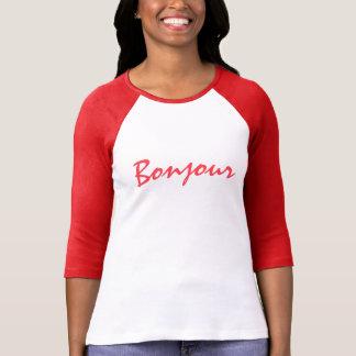 フランスのであなた専有物をこんにちは作成して下さい Tシャツ
