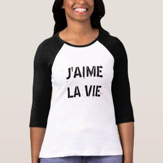 フランスのであなた専有物をI愛生命作成して下さい Tシャツ