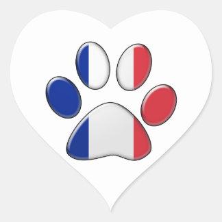 フランスので愛国心が強い猫 ハートシール