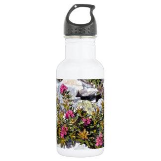 フランスのなアルプスのAlpenroseの花 ウォーターボトル