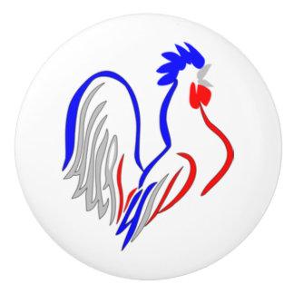 フランスのなオンドリ セラミックノブ