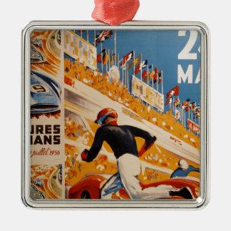 フランスのなカーレースのヴィンテージ- 24h du Mans メタルオーナメント