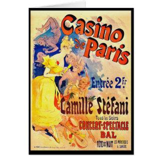 フランスのなナイトクラブの広告1891年 カード