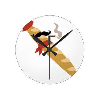フランスのなバゲット ラウンド壁時計