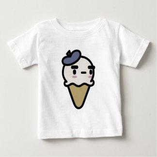 フランスのなバニラアイスクリーム ベビーTシャツ