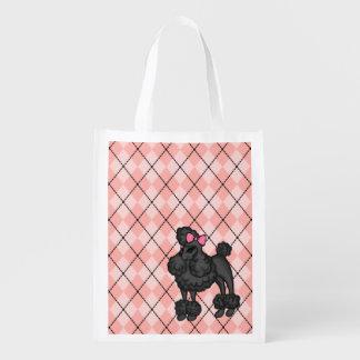 フランスのなプードルの再使用可能な買い物袋 エコバッグ