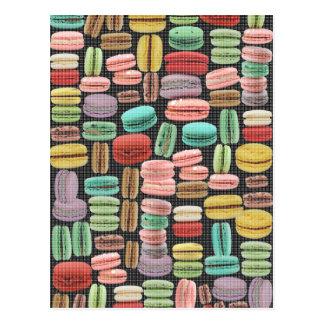 フランスのなマカロンのポップアート ポストカード