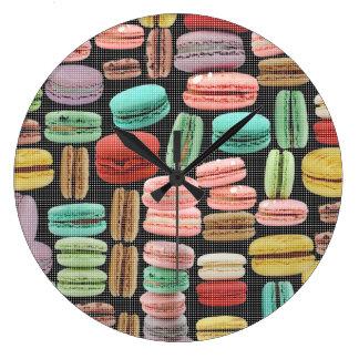 フランスのなマカロンのポップアート ラージ壁時計
