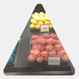 フランスのなマカロン|パリ、フランス 三角形シール