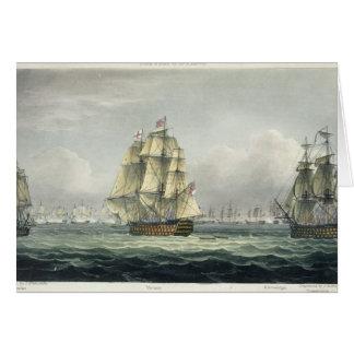フランスのなラインのためのHMSの勝利の航行は並びました カード