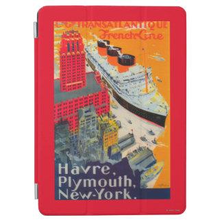 フランスのなライン旅行ポスター、プリマス、NYへのハバー iPad AIR カバー