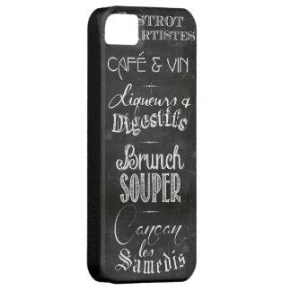 フランスのなレストランの黒板メニュー iPhone SE/5/5s ケース