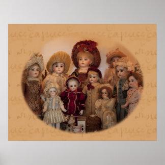 フランスのな人形および友人ポスター ポスター