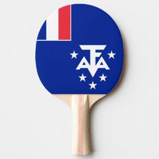 フランスのな南および南極土地の旗 卓球ラケット