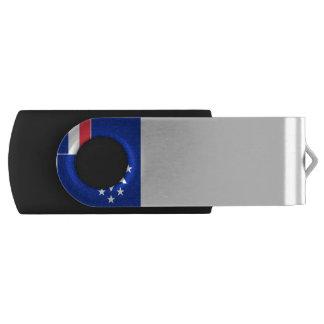 フランスのな南および南極土地の旗 USBフラッシュドライブ