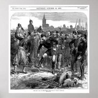 フランスのな囚人のストラスブールの出発の秋 ポスター