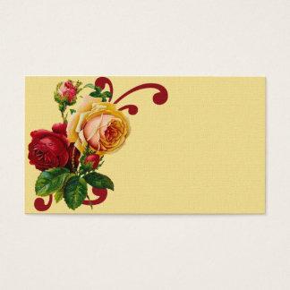 フランスのな国のバラの名刺 名刺